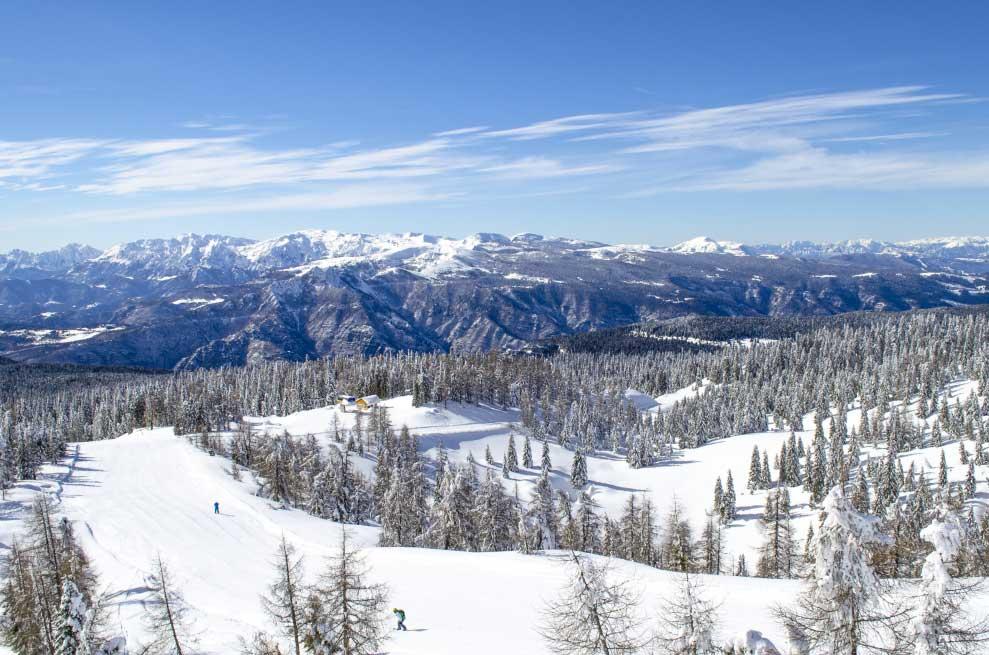Panorama invernale monte Verena